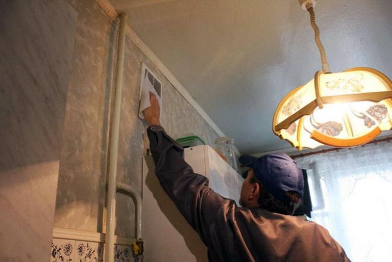 Чистка вентиляции на кухне