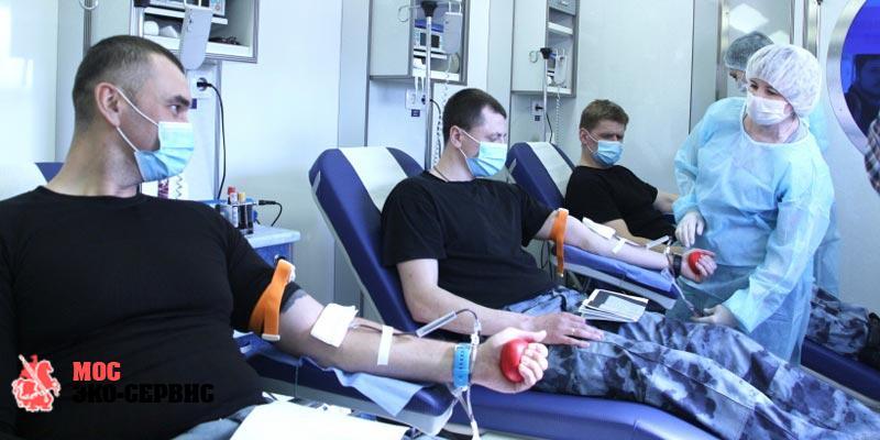 Дезинфекция в станции переливания крови
