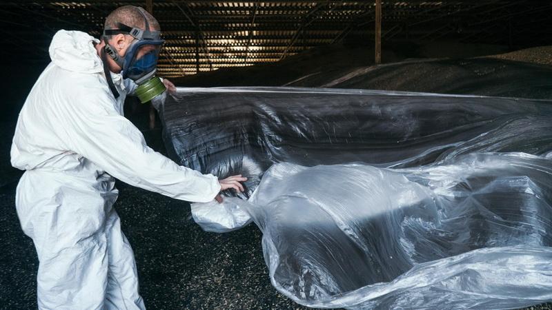 Фумигация под синтетической пленкой