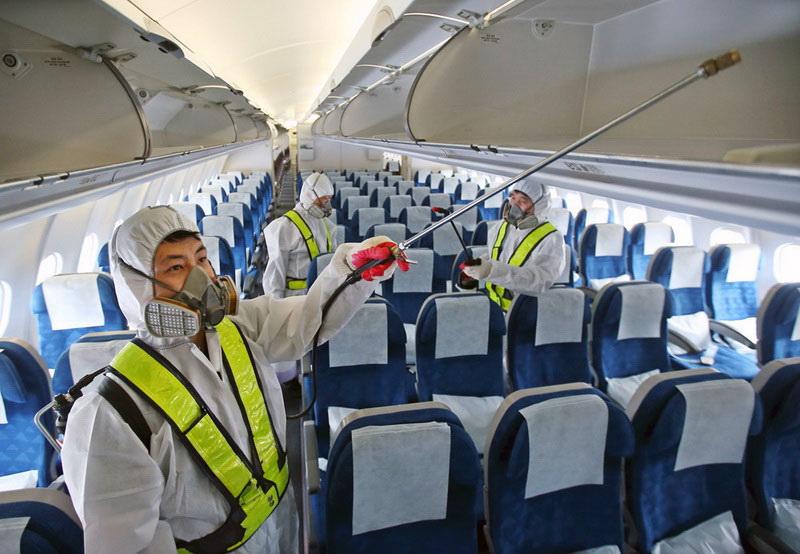 Дезинфекция авиатранспорта